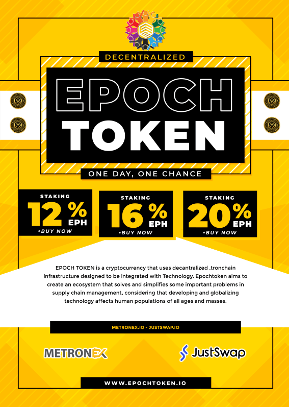 EPOCHTOKEN Decentralized and non-profit Ecosystem platform.